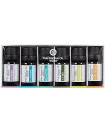 Pure Essential Oil Works Top 6 Aromatherapy Oil Kit