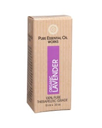 Pure Essential Oil Works Organic Lavender Oil, 100% Pure, Natural, Paraben-Free and Therapeutic Grade with Euro-Style Dropper, .33 Ounces