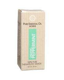 Pure Essential Oil Works Organic Peppermint Oil .33 Ounces
