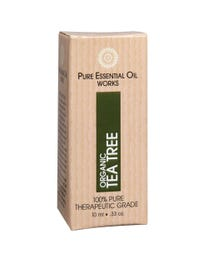 Pure Essential Oil Works Organic Tea Tree Oil, 100% Pure, Natural, Paraben-Free and Therapeutic Grade with Euro-Style Dropper, .33 Ounces