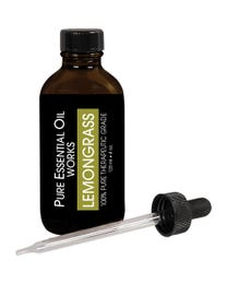 Pure Essential Oil Works Lemongrass Oil, 100% Pure, Natural, Paraben-Free and Therapeutic Grade with Dropper Cap, 4 Ounces