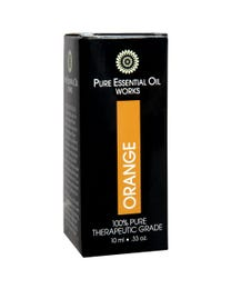 Pure Essential Oil Works Orange Oil, 100% Pure, Natural, Paraben-Free and Therapeutic Grade with Euro-Style Dropper, .33 Ounces