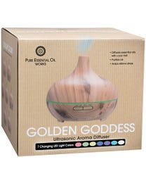 Pure Essential Oil Works Golden Goddess Ultrasonic Diffuser