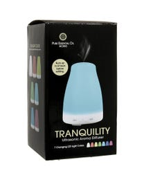 Pure Essential Oil Works Tranquility LED Ultrasonic Aroma Diffuser Package