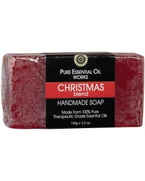 Pure Essential Oil Works Christmas Blend Handmade Soap 3.3 oz.