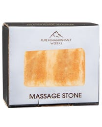 "Pure Himalayan Salt Works Rectangle Massage Stone, Pink Crystal Hand-Carved Stone for Massage Therapy, Deodorant and Salt and Sugar Scrubs, 2.25"" W x 3.25"" H x 1"" D"