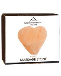 "Pure Himalayan Salt Works Heart Massage Stone 2.75"" W x 3"" H x 1.5"" D"