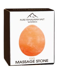 "Pure Himalayan Salt Works Egg Massage Stone 2.5"" Round x 3.5"" L"