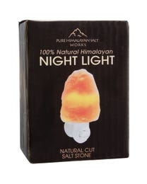 "Pure Himalayan Salt Works 100% Natural Himalayan Night Light, Natural Cut Salt Stone with 360° Rotating Wall Plug, Includes Night Light Bulb, 2"" Round x 3.9"" H"