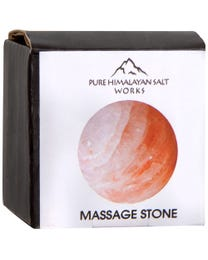 "Pure Himalayan Salt Works Round Ball Massage Stone, Pink Crystal Hand-Carved Stone for Massage Therapy, Deodorant and Salt and Sugar Scrubs, 2"" Round"