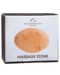 "Pure Himalayan Salt Works Flat Oval Massage Stone, Pink Crystal Hand-Carved Stone for Massage Therapy, Deodorant and Salt and Sugar Scrubs, 2.5"" W x 3.5"" L x 1"" D"