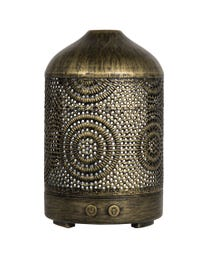 Pure Essential Oil Works Filigree LED Ultrasonic Aroma Diffuser, Diffuses Essential Oils with Cool Mist, Adjustable Mist Options, Auto Shut-Off and Seven LED Light Colors