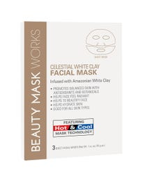 Beauty Mask Works Celestial White Clay Facial Mask 3-Count