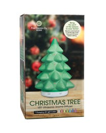 Pure Essential Oil Works Christmas Tree LED Ultrasonic Diffuser Box