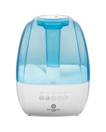 Pure Air Essentials Works Cool Mist Luxury Ultrasonic Humidifier, Moisturizes Air, Features Adjustable Mist Options, 360° Nozzle Direction, Timer Settings, Hinged Carry Handle, Auto Shut-Off, Optional Night Light and Sleep Mode