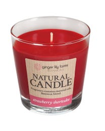 Ginger Lily Farms Botanicals Natural Candle Strawberry Shortcake