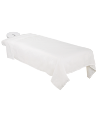 Poly-Cotton 3-Piece Massage Sheet Set White