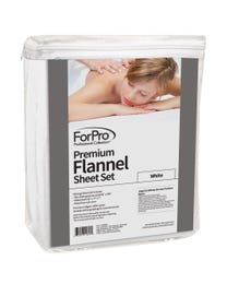 Premium Flannel 3-Piece Massage Sheet Set White