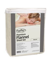 Premium Flannel 3-Piece Massage Sheet Set Natural