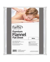 Premium Flannel Massage Flat Sheet White
