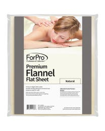 Premium Flannel Massage Flat Sheet Natural