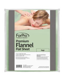 Premium Flannel Massage Flat Sheet Sage