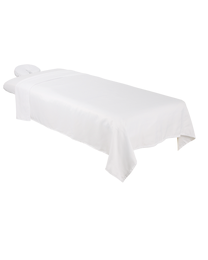 Premium Microfiber 3-Piece Massage Sheet Set White