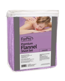 Premium Flannel 3-Piece Massage Sheet Set Lavender