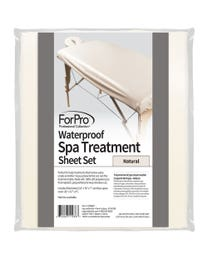 ForPro Waterproof Spa Treatment Massage Sheet Set Natural