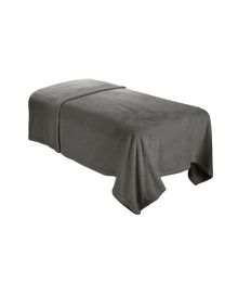 ForPro Microfiber Plush Massage Blanket Cool Grey