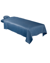 Premium Microfiber 3-Piece Massage Sheet Set Ocean Blue