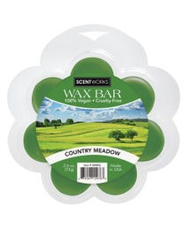 Country Meadow Wax Bar, Wickless Candle Tart Warmer Wax, 100% Vegan and Cruelty-Free, 2.6 Ounce Bar