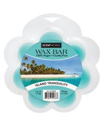 Island Tranquility Wax Bar, Wickless Candle Tart Warmer Wax, 100% Vegan and Cruelty-Free, 2.6 Ounce Bar