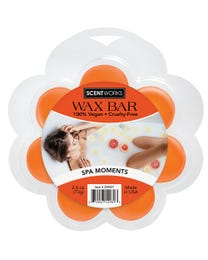 Spa Moments Wax Bar, Wickless Candle Tart Warmer Wax, 100% Vegan and Cruelty-Free, 2.6 Ounce Bar