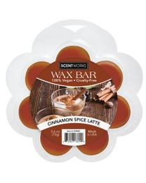 Cinnamon Spice Latte Wax Bar, Wickless Candle Tart Warmer Wax, 100% Vegan and Cruelty-Free, 2.6 Ounce Bar