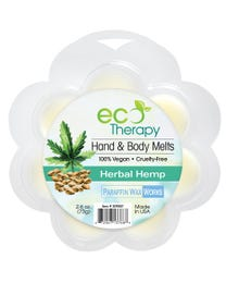 Paraffin Wax Works EcoTherapy Hand & Body Wax Melts Herbal Hemp 2.6 Ounces