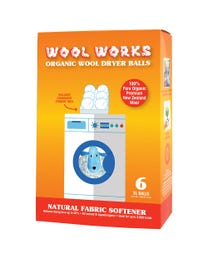 Pure Essential Oil Works Wool Works Organic Wool Dryer Balls, Extra-Large Natural Fabric Softener Balls, 2 Ounces Each, 6-Count
