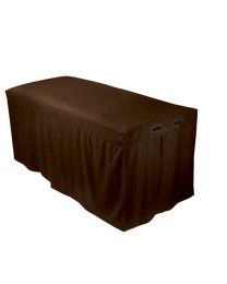 ForPro Premium Table Skirt, Chocolate