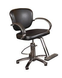 Aries Styling Chair Black w/ 5-Star Base and T-Footrest