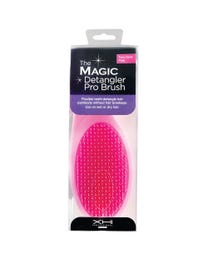XHI Professional Works The Magic Detangler Pro Brush, Two-Tone Pink, Wet or Dry Detangling Hairbrush for All Hair Types, Perfect for Men, Women and Kids