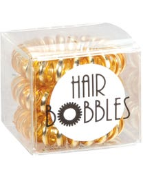 ForPro Hair Bobbles Gold Tinsel 3-Count