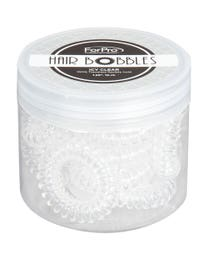 ForPro Hair Bobbles Icy Clear 12-Pack