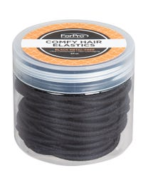 ForPro Comfy Hair Elastics Black 50-Count