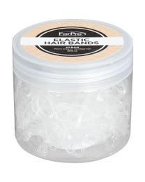 ForPro Elastic Hair Bands Clear 200-Count