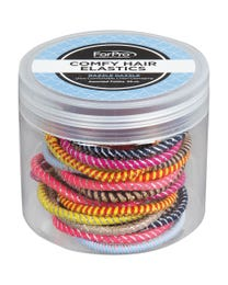 ForPro Comfy Hair Elastics Assorted Colors 25-Count