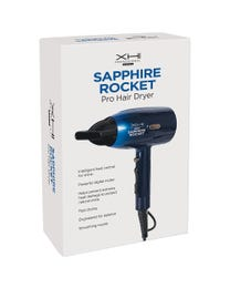 XHI Sapphire Rocket Hair Dryer with Powerful 1800W Motor and Negative Ion Technology for High Shine, Supersonic Drying of All Types of Hair