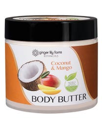 Ginger Lily Farms Botanicals Body Butter Coconut & Mango 15.5 Ounces