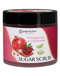 Ginger Lily Farms Botanicals Sugar Scrub Pomegranate & Chamomile 20 Ounces