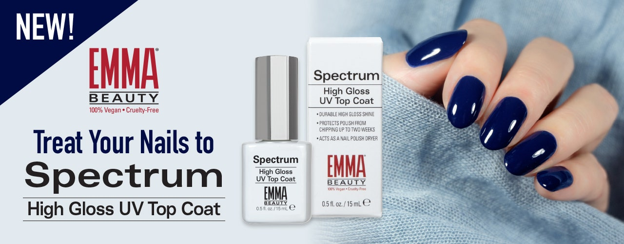 Treat Your Nails to EMMA Beauty Spectrum High Gloss UV Top Coat