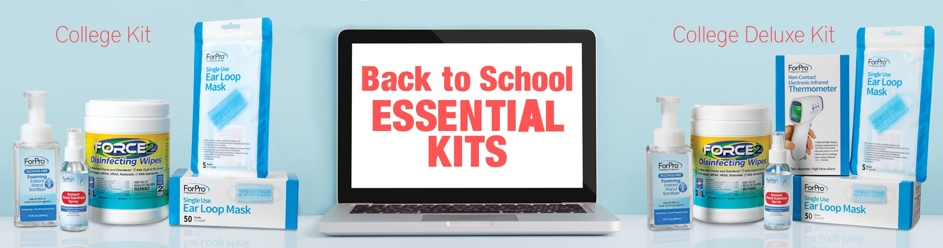 Back to school masks and sanitizer, PPE for schools